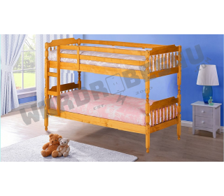 Colonial Wooden Bunk Bed Honey Pine - Single 3'0