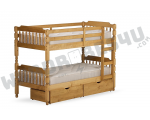 Colonial Wooden Bunk Bed Wax Pine - Single 3'0