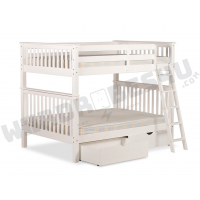 Malvern Wooden Bunk Bed White - Small Double 4'0