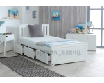 Mission Wooden Pine Storage Bed with Drawers - Single 3'0