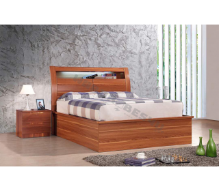 Rugby Storage Ottoman LED Bed Matt - Double 4'6